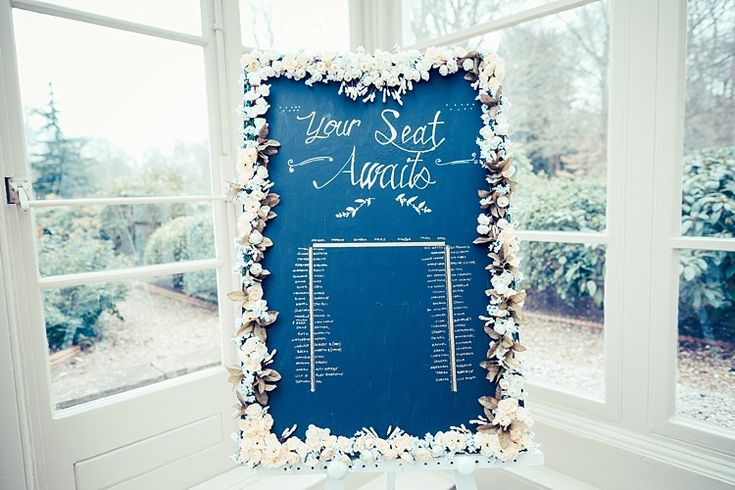 Chalk Black Board Table Seating Plan Chart Flowers Fun Stylish City Hall Wedding http://www.terryliphotography.co.uk/