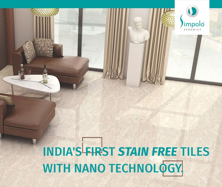 Simpolo's innovative nano technology gives the tiles a never-before seen glossiness along with skid resistance, stain resistance, durability and easy maintenance.