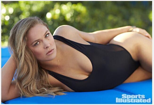 UFC fighter Ronda Rousey in the 2015 SI Swimsuit Issue, on sale now. (Walter Iooss Jr./Sports Illustrated)