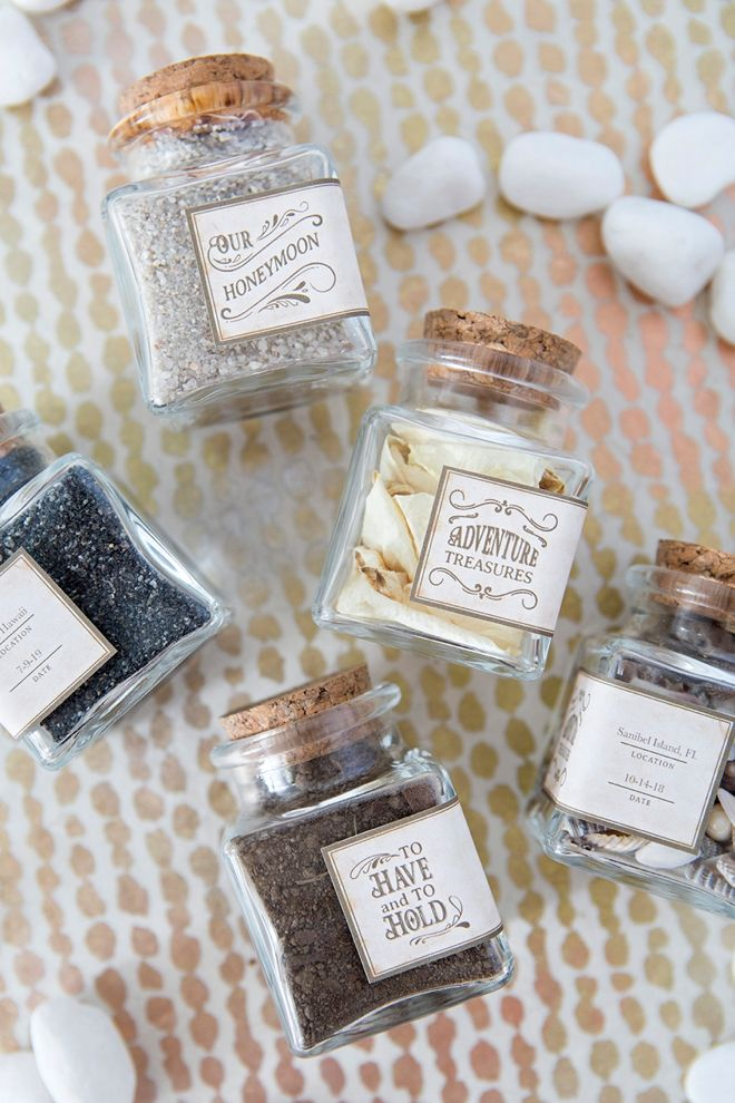 Save Something Special From Your Special Vacation With Our Label Designs Diy Honeymoon Wedding Favour Jars Diy Wedding Inspiration