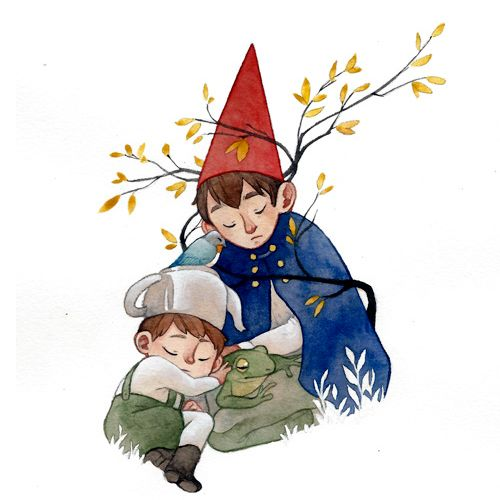 I don't know if we'll ever get back home… Watch the magic of Over the Garden Wall again today at 2PM EST!  (: Rozenng/deviantart)