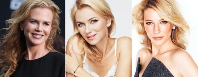 Australian Blondes:  3 actrices australianas con éxito en Hollywood: Nicole Kidman, Kate Blanchette y Naomi Watts