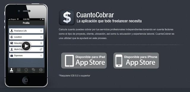 Aplicación iPhone para saber cuanto debes cobrar como diseñador