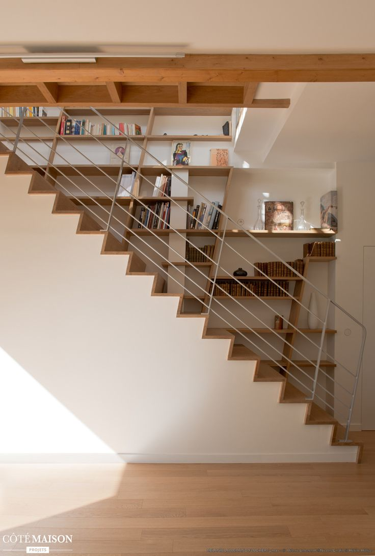 275 best escaliers images on pinterest home ideas stairs and my house - Escalier bois interieur ...
