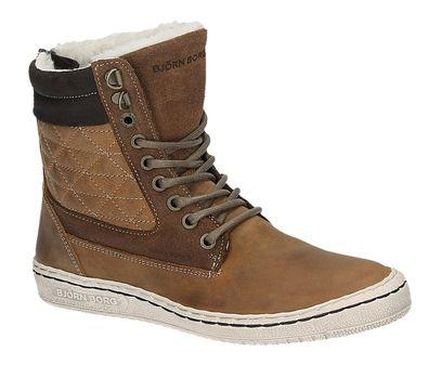 Bjorn Borg WILLOW HIGH Q FUR bruine hoge sneakers