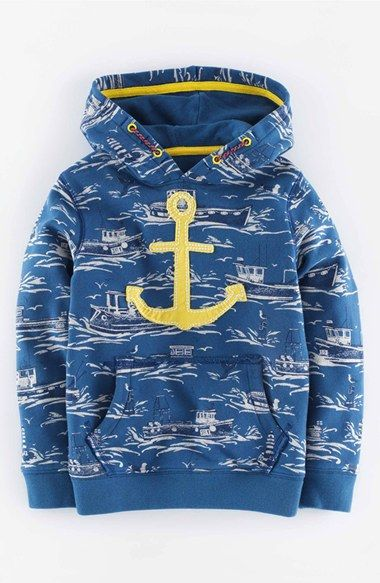 Mini Boden 'Vintage' Hoodie (Toddler Boys, Little Boys & Big Boys) available at #Nordstrom
