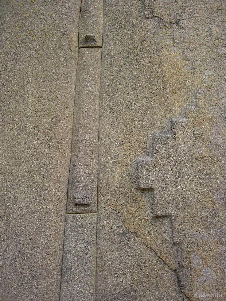 Detalle de Arquitectura Inca en Ollantaytambo, Peru.