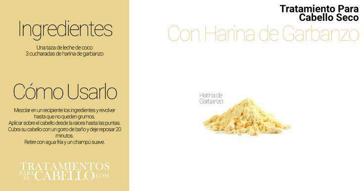 Tratamiento Casero de Harina de Garbanzo para el Cabello Seco | Los Mejores 20 Tratamientos Caseros Para El Cabello Seco