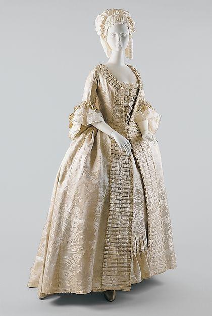 Robe à la Française Date: ca. 1770 Culture: French Medium: silk Accession Number: 1999.41a, b