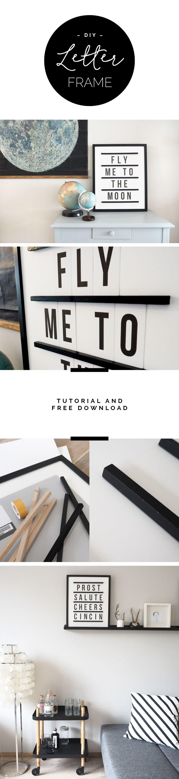 Letter Frame DIY | sodapop design