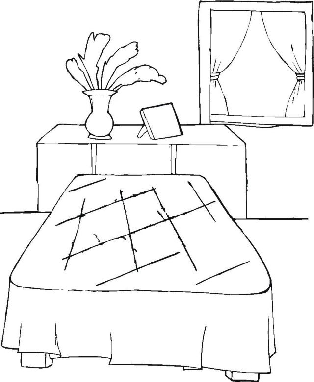 Free coloring page of elisha 39 s room google search for Elisha coloring pages