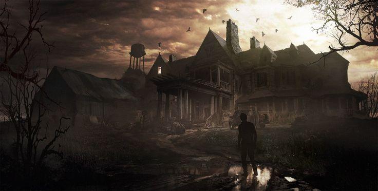 #Resident evil #mansion #Bakers house #location #Biohazard #art #game #Обитель зла #Особняк Бейкеров #арт