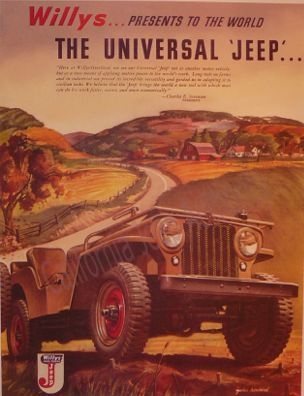 Love the style  of old time adds, and the CJ2A  is still one of coolest jeeps ever made.