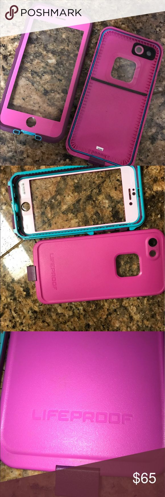 Life proof Case iPhone 7 Only 3 months old. Brand new condition. Got another color so decided to sell. Great protection from water weather....well life  LifeProof Accessories Phone Cases