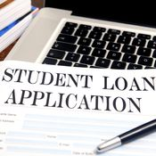 Student loan application. A lot of the students were not getting a good education; they were dropping out and ... defaulting. But the for-profits got to keep the money.