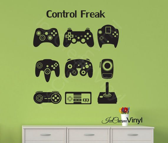 Ice Cream Vinyl via Etsy video game controllers wall decal