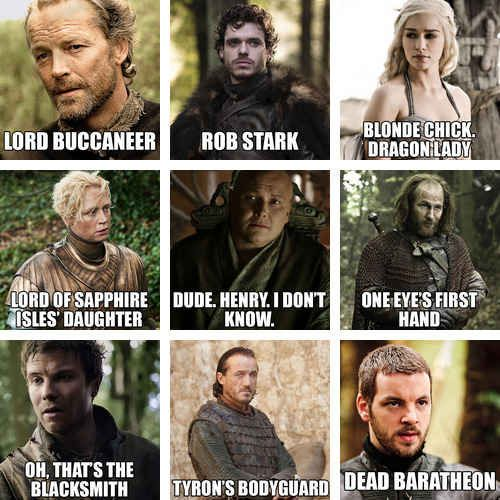 """The Names Of """"Game Of Thrones"""" Characters According To Someone's Dad - BuzzFeed Mobile"""