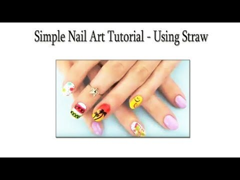 Simple Nail Art Tutorial - Using Straw   Makeup Tutorial Channel... See More Here : http://goo.gl/jDA1dc  Hope Your Enjoy! ..... Like, Share, Comment & Subscribe Us!  More Makeup Tutorial Channel videos ... Click Here: https://www.youtube.com/channel/UC3SbRN6zFEgCdnKHZj28B4w #nailart #nailarttutorial #nailarttutorialvideo