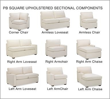 Pb Square Upholstered Left Arm Chair Down Blend Wrapped