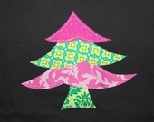 Size 18 - 24 months ... Girls Christmas Tree Shirt ...  Ready To Ship ... Whimsy Christmas Tree tshirt for Girls