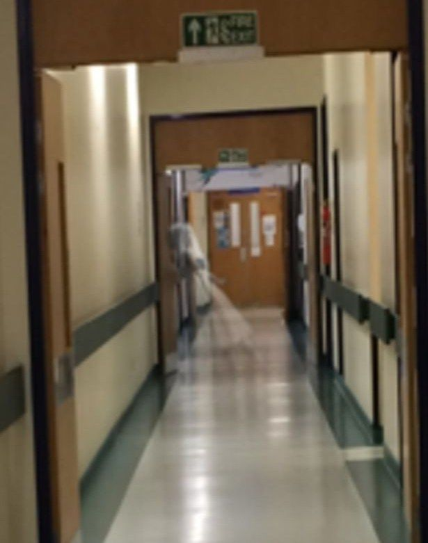 Andrew Milburn was texting his girlfriend at the Leeds General Infirmary, United Kingdom, when he noticed a ghostly figure of a nurse in a Snapchat he took. There are numerous ghost stories connected to the hospital, many of which concern a nurse who haunts the wards, caring for her patients long after her passing.