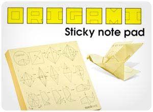 $5.50 origami sticky notes