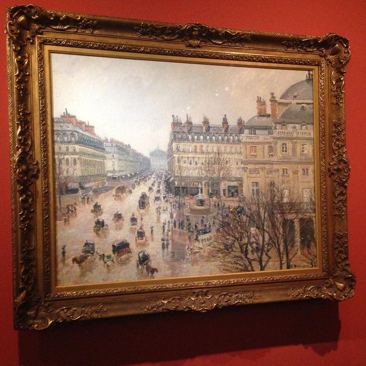 {Museum visit} Camille Pissarro paints the Opera avenue on a bright day... #series #pissarro #expo #paris #daytime