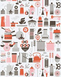 Kaffe Red, Pink and Brown från Isak