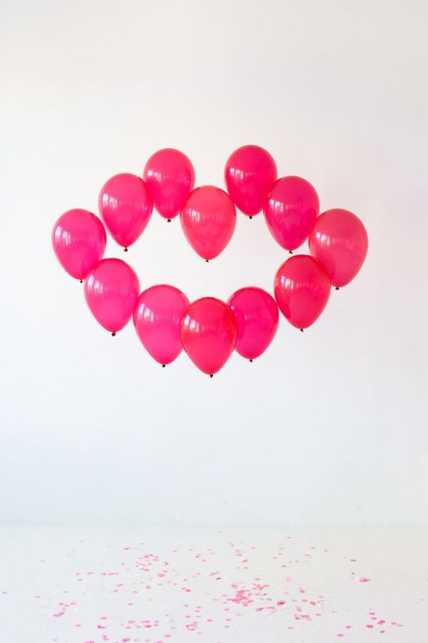 17 best images about valentine 39 s day ideas on pinterest for Balloon decoration for valentines day