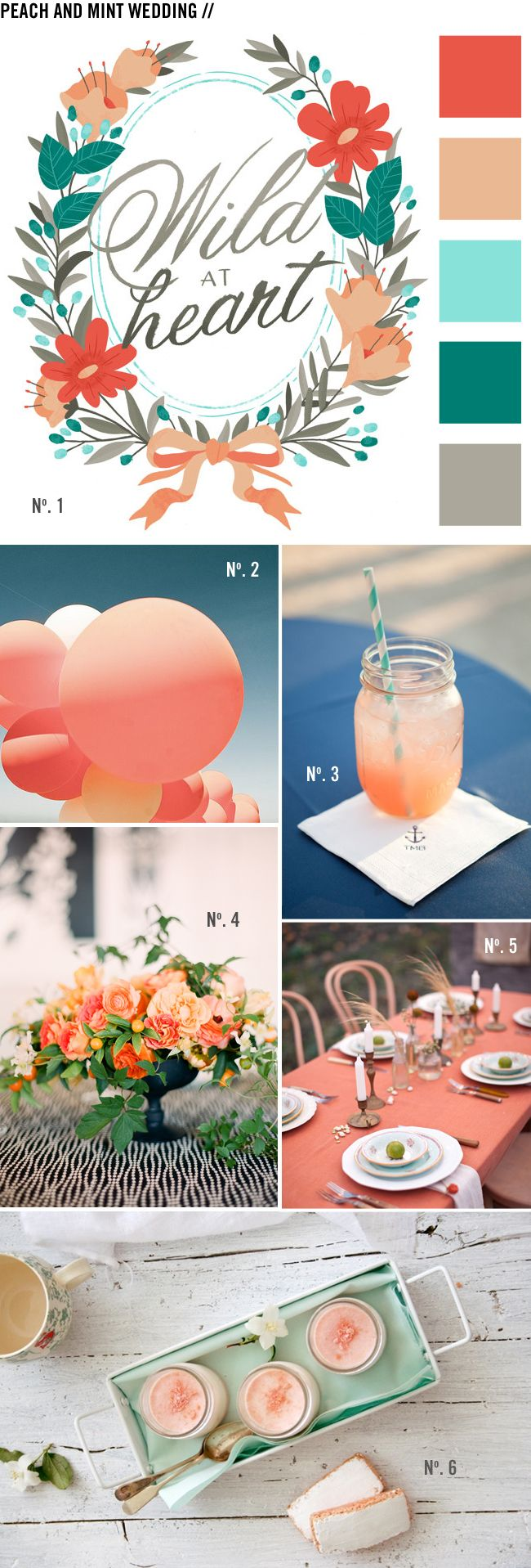 Peach + Mint Wedding Inspiration // LoveCreative Blog