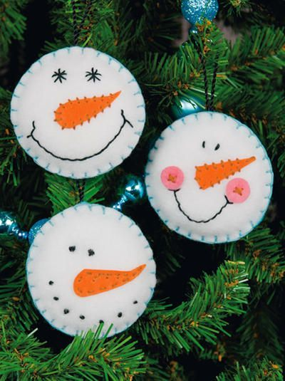 felt christmas ornaments | ... felt applique ornaments . This is a great project to do with children