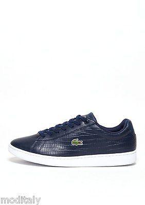 LACOSTE scarpe uomo CARNABY EVO G316 5 Navy SPM 7-32SPM0121 pelle  martellata. EvoLacosteSneakers