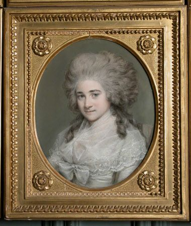 The Hon. Charlotte Clive (1762-1795) by Hugh Douglas Hamilton RHA (Dublin 1739/40 – Dublin 1808) Powis Castle © National Trust / Kate Lynch