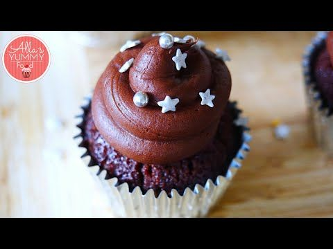 Chocolate Vodka Cupcakes Recipe | Шоколадные кексы с Водкой - YouTube