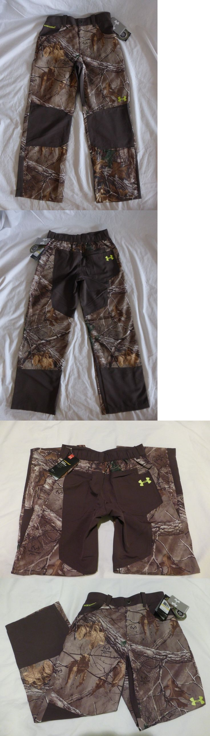 Pants and Bibs 177873: Nwt Under Armour Realtree Xtra Storm 1 Camo Hunting Pants Youth Medium -> BUY IT NOW ONLY: $30.95 on eBay!