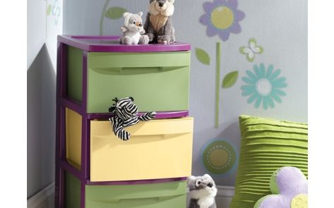 decorative drawers plastic drawer storage spray painted with Krylon Fusion for Plastic