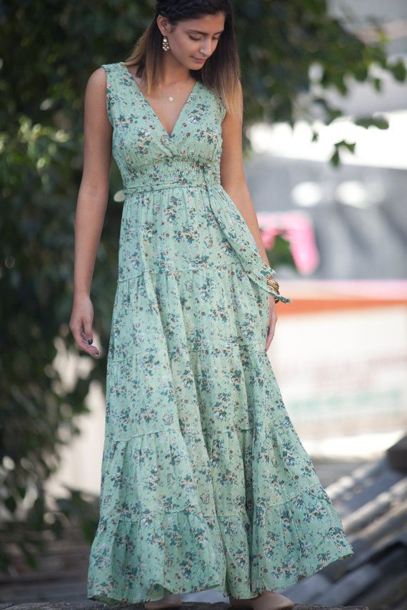 Carrie dress Maxi Dress Bohemian Hippie Urban by AnabellaWomen