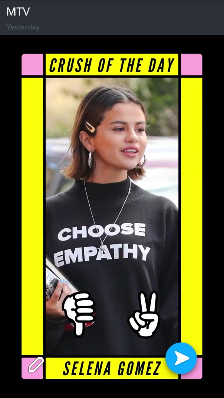 Girl crush every day Selena Gomez. Choose empathy. Well heck yes.
