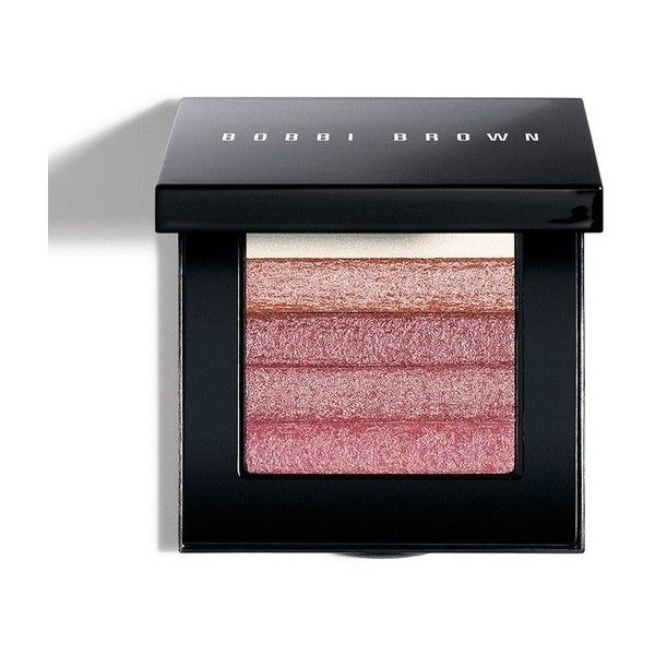 Bobbi Brown Shimmer Brick Compact Rose ($48) ❤ liked on Polyvore featuring beauty products, makeup, cheek makeup, blush, beauty, blush & bronzers, neutral, blending brush, bobbi brown cosmetics and blender brush