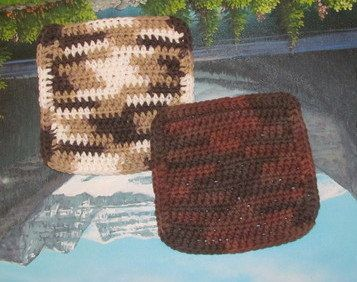 Set of two 6 by 6 crochet cotton dish cloths by LandLCandlesandCraft on Etsy