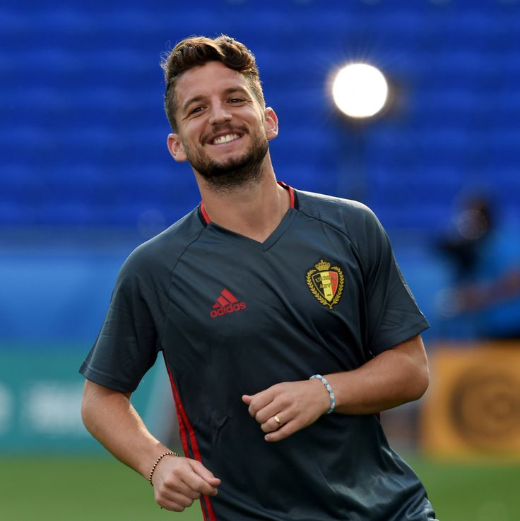Dries Mertens of Belgium looks on during a training session ahead of their UEFA Euro 2016 Group E match between Belgium and Italy on June 12, 2016 in Lyon, France.