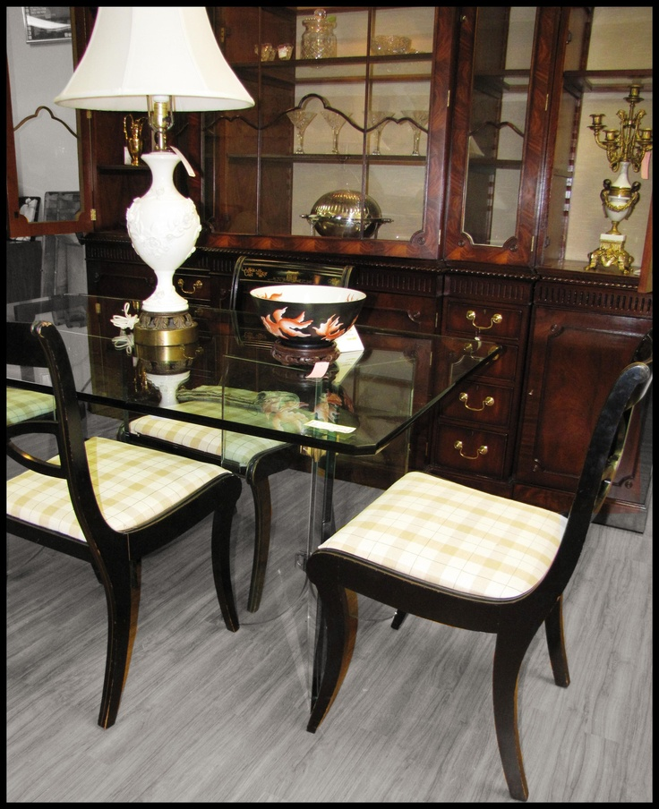 We have many great dining room options in the store right now! Come by for our sidewalk sale this Saturday, July 21st, to see what hot deals you can score!  www.thewomensresourcecenter.org/encore  encoreandmore.blogspot.com