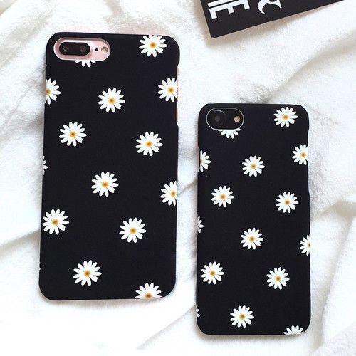 Details über Für iPhone 7 8 plus X Niedliche Gänseblümchen-Blumen-ultra dünne stark bereifte Telefon-Kasten-Abdeckung   – Adarely♡