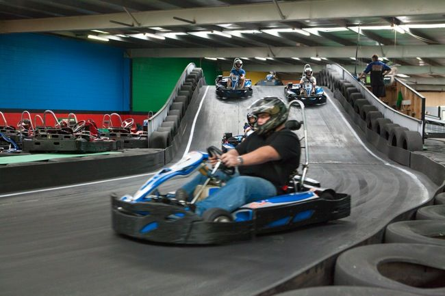 Racing around the track - Go Karting Gold Coast