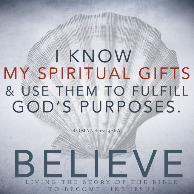 I know my spiritual gifts and use them to fulfill God's purposes.