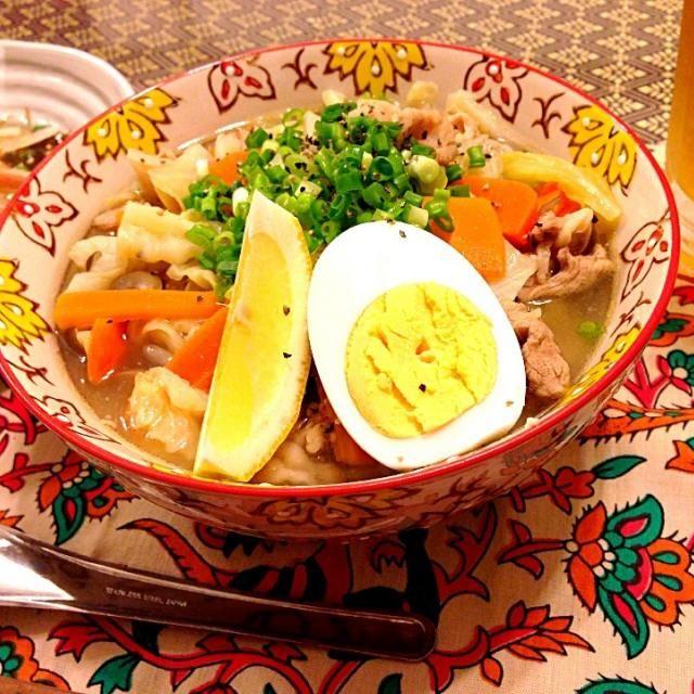 お野菜たっぷりの太平燕ともずくとゆず豆腐のサラダで晩ご飯にしました(*^^*) 水曜日晩ご飯です(^ν^) - 97件のもぐもぐ - 太平燕で水曜日晩ご飯(^ν^) by めぐみ