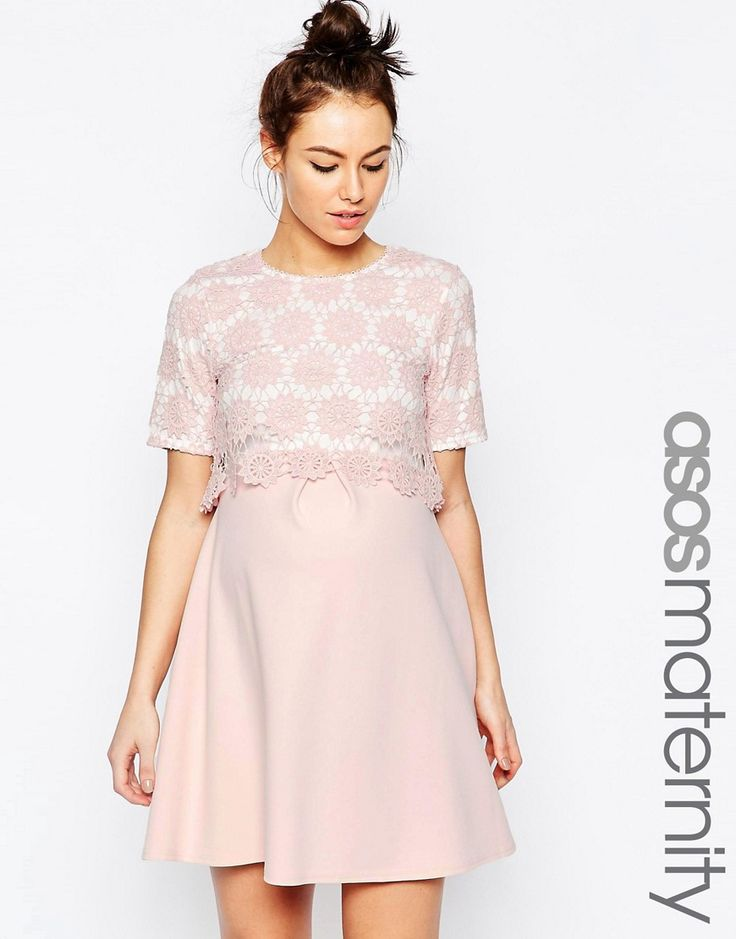 ASOS+Maternity+Lace+Double+Layer+A-Line+Dress