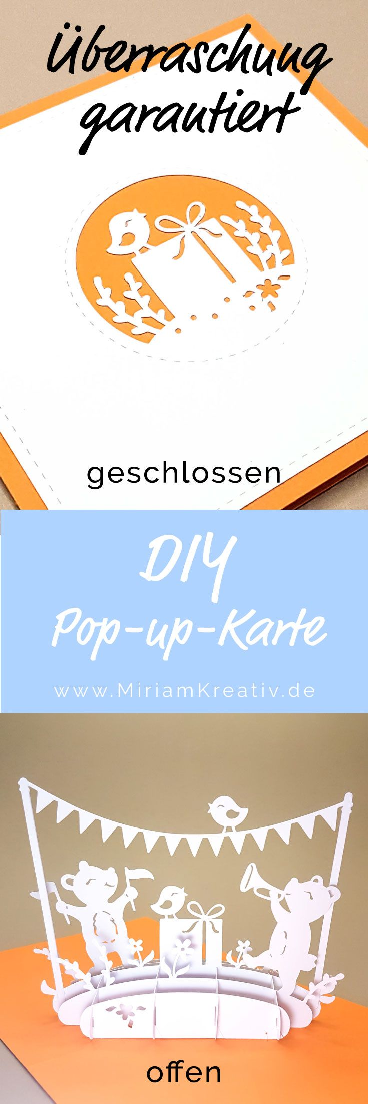 12 besten diy pop up karten plotter bilder auf pinterest for Pop up geburtstagskarte