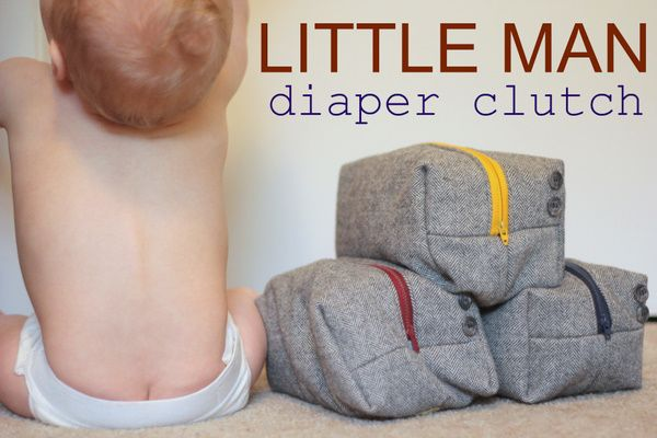 Little Man Diaper Clutch Tutorial..... I think it would make a good makeup bag or a bag for your guys stuff too