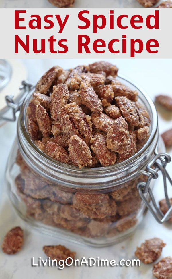 This Easy Spiced Nuts Recipe is a yummy recipe ideal for holiday parties! Don't spend $10 at a concert for them when you can make them at home for $3!